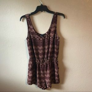 Tribal print romper F21 with pockets